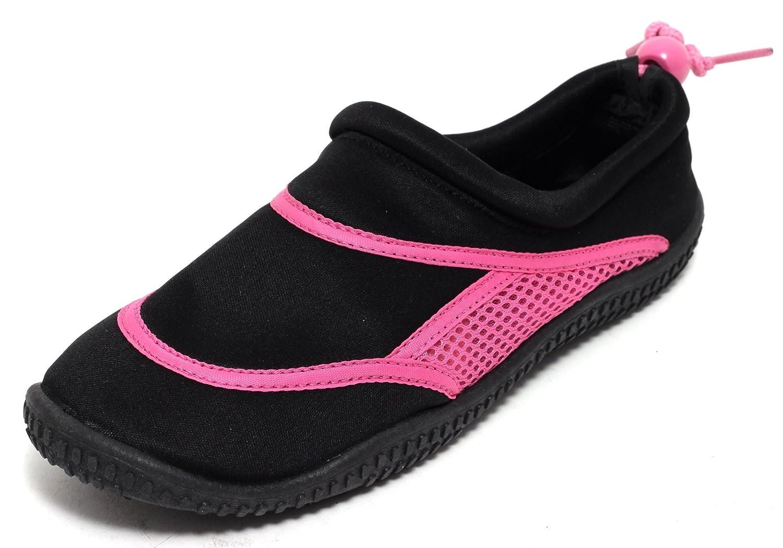 Zapato Neopren Aquaschuhe Badeschuhe Schwimmschuhe Schwarz/Pink Gr. 36-41