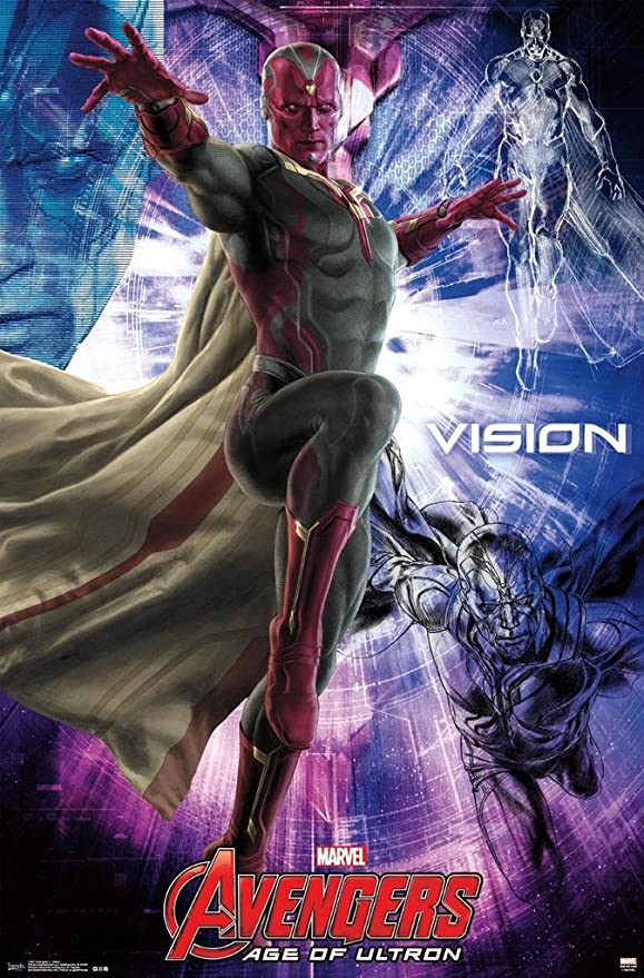 Amazon Com Marvel Avengers 2 Age Of Ultron Vision Poster Print 24 X 36 Posters Prints
