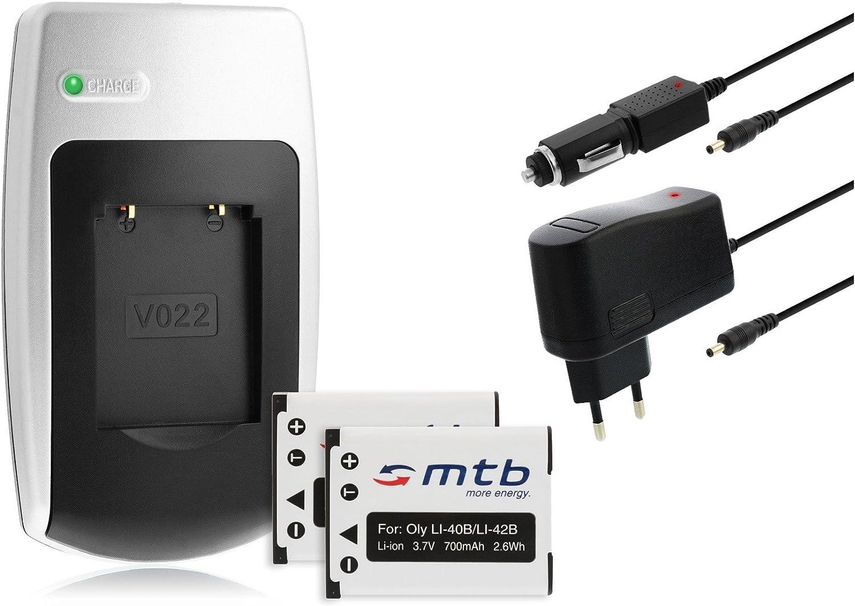 750 785 600 Cargador LI-40B para Olympus VR-325 VR-330 // X-15