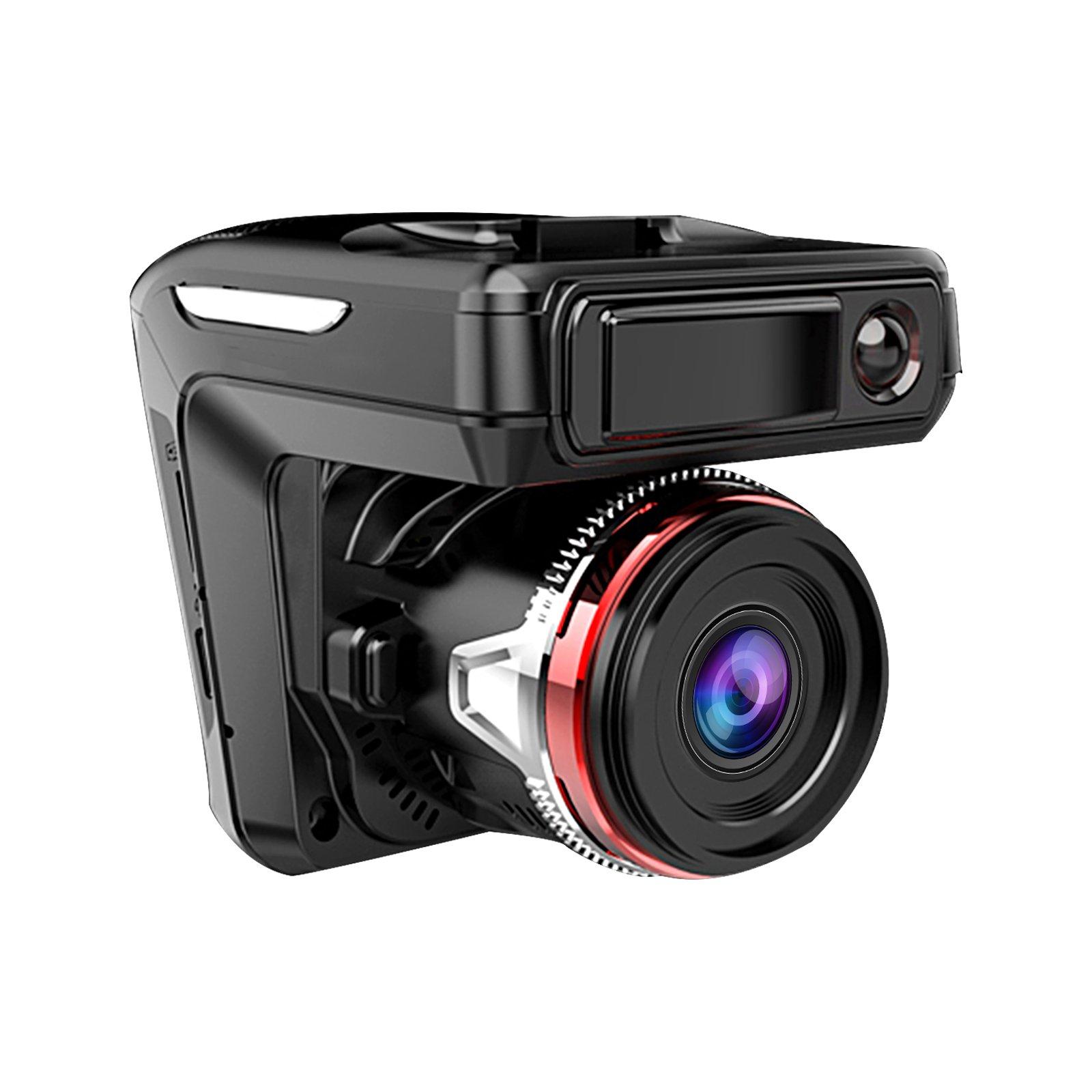 EEEKit 2in1 HD 1080P Car DVR Detector Camera Video Recorder Dash Laser Speed Cam Radar 170° Ultra High-Definition Wide Angle Lens Night Vision G-Sensor 1080P