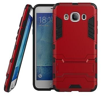 LXHGrowH Funda Samsung Galaxy J5 2016, Fundas 2in1 Dual Layer Anti-Shock 360° Full Body Protección TPU Silicona Gel Bumper y Duro PC Armadura Carcasa ...