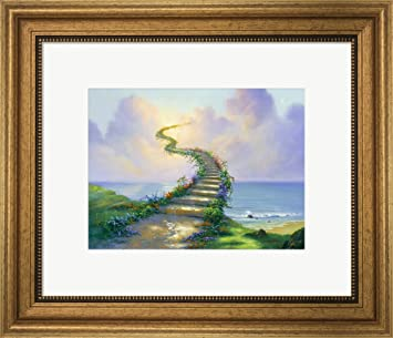 Amazoncom Great Art Now Stairway To Heaven By Jim Warren Framed
