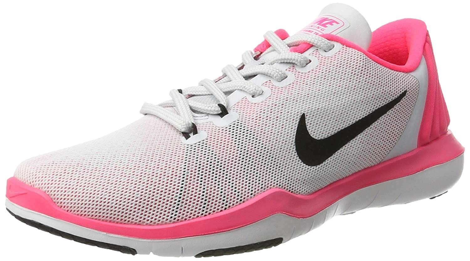 NIKE Women's Flex Supreme TR 5 Cross Training Shoe B01LPORW46 9.5 B(M) US|Pure Platinum/Black/Racer Pink/Wolf Grey