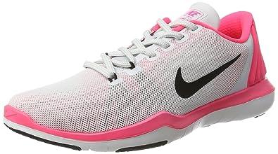 buy online 1c0ed 4637c Nike Women s Flex Supreme TR 5 Cross Trainer, Pure Platinum Black Racer Pink
