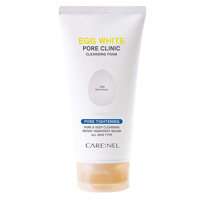 Egg White Pore Clinic - Facial Cleansing Foam 150ml(5.07fl.oz) - Purifying Foaming Cleanser for Daily Face Washing - Moisturizer & Brightening for All Skin Types - Supply natural food to the skin