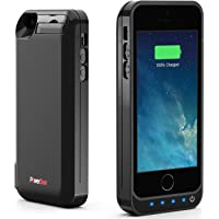 PowerBear Battery Case iPhone 5SE/5S/5C/5 [4000mah] Built in USB Power Bank Capacity (Up to 2.5X Extra Battery) - Black [24 Month Warranty and Screen Protector Included]