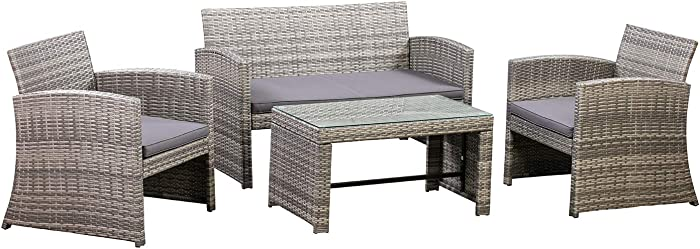 Top 8 Gradient Gray Rattan And Blue Patio Furniture