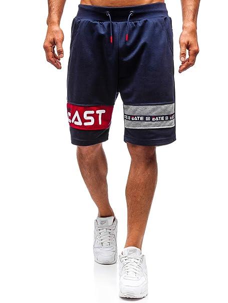 BOLF Hombre Pantalón Corto Pantalón de Chándal Deportivo Pantalones de Algodón Estilo Deportivo 7G7