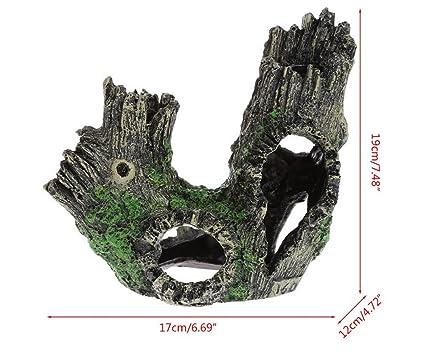 Ari_Mao Pecera de Acuario Ocultar Cueva de Adorno Casa para la cría de camarones Cueva