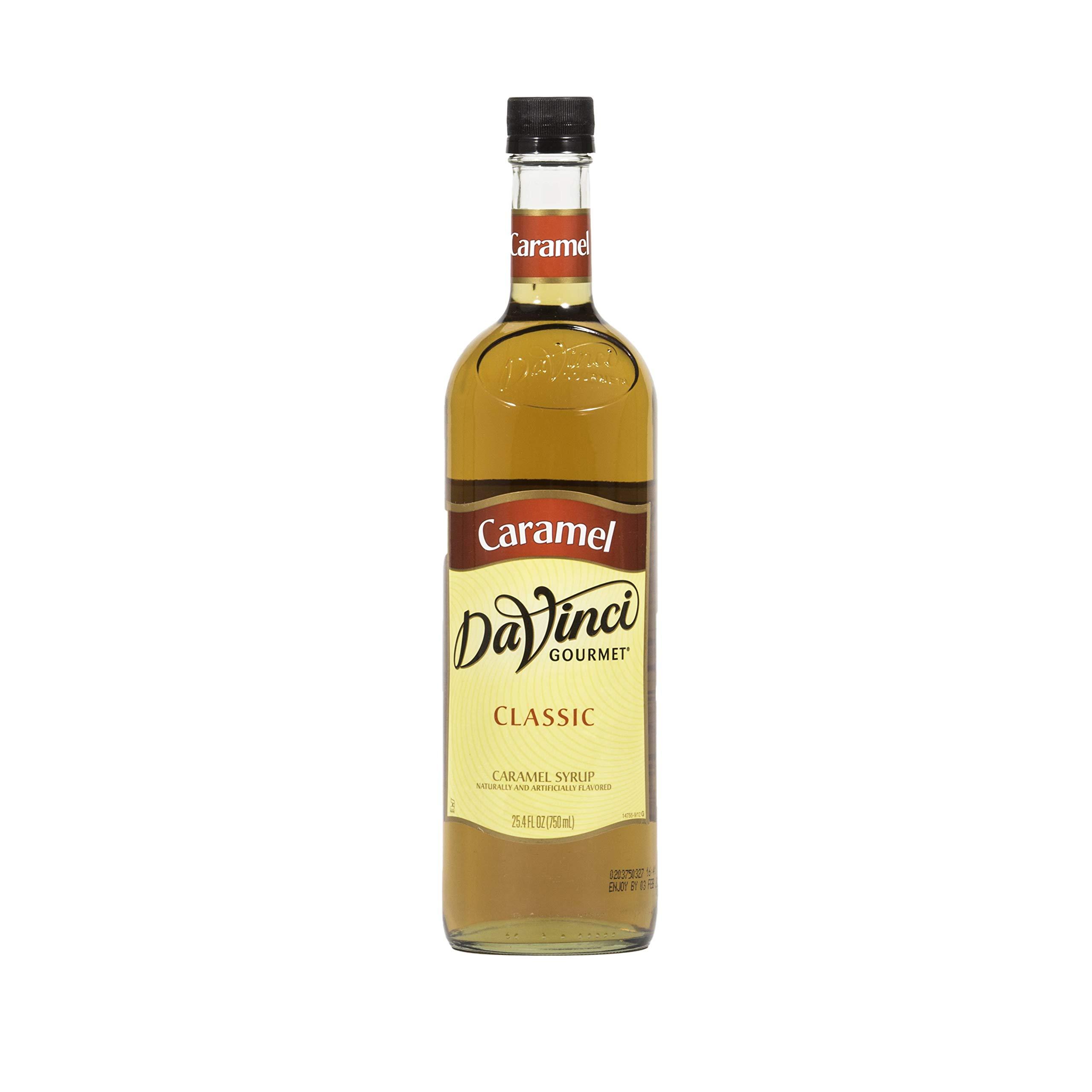 DaVinci Classic Caramel Syrup - 750ml Bottle (Case of 12)