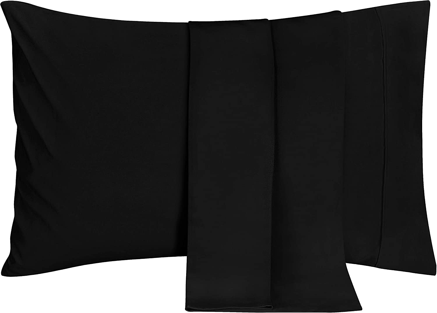 Utopia Bedding Brushed Microfiber Pillowcases – 20 by 30 inches Pillow Covers (Pack of 2, Queen, Black)