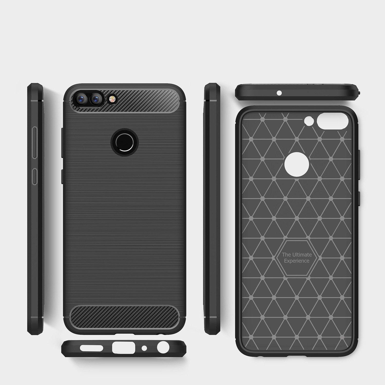 Electro-weideworld Huawei P Smart Funda, Cubierta Delgado Material de Silicona Funda Protective Case Cover [Diseño Durable] [Máxima protección contra ...