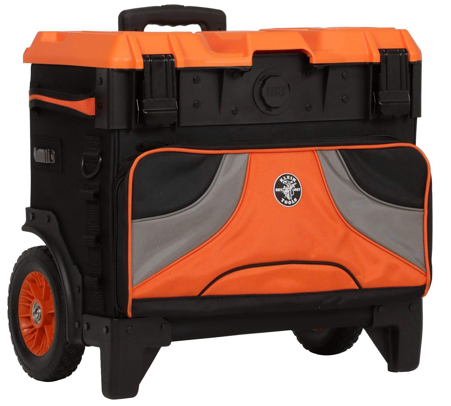 Klein Tools 55473RTB Tool Box, Rolling Tool Bag on Wheels with High Clearance, Portable Tool Box up to 250 Pounds by Klein Tools