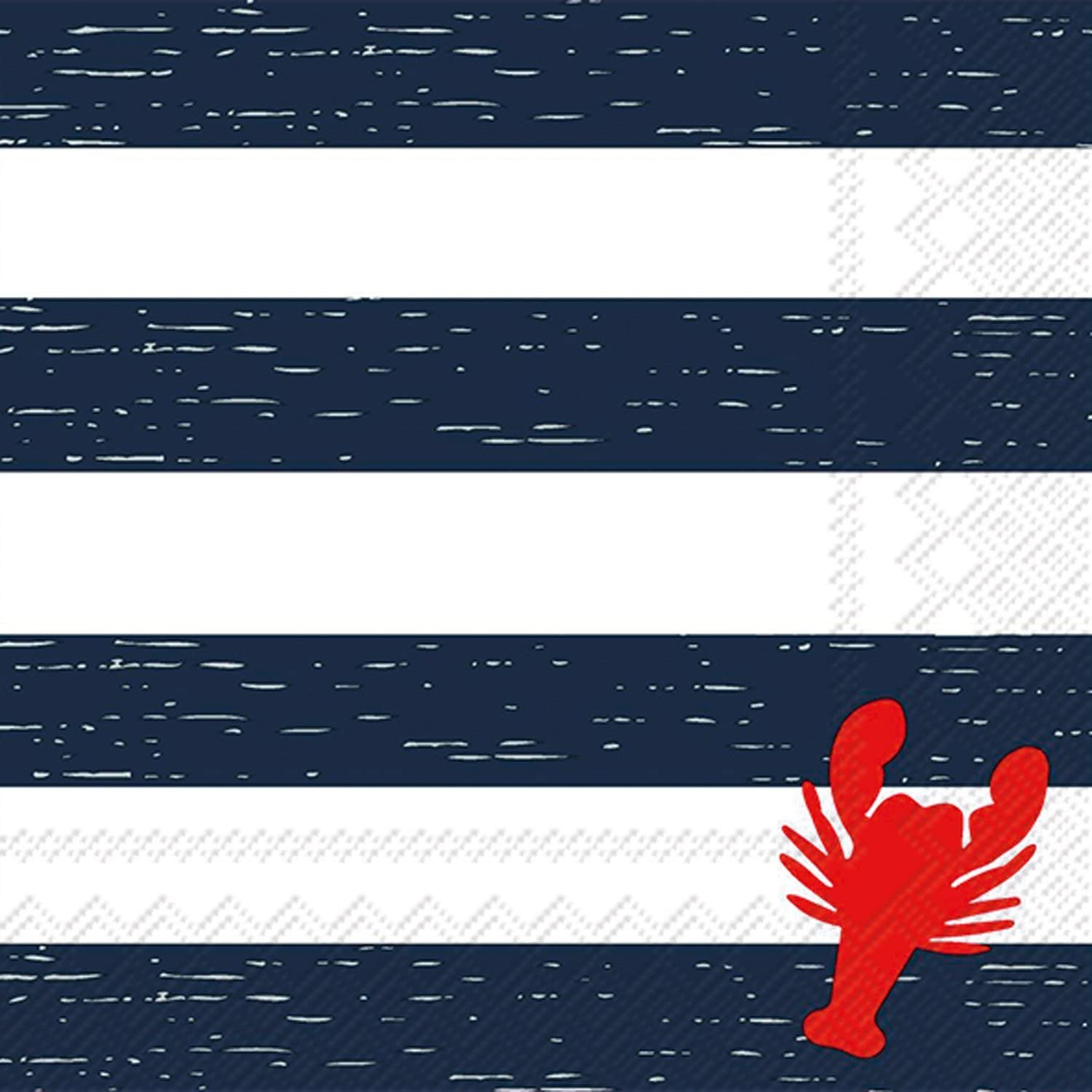 Celebrate the Home Nautical 3-Ply Paper Cocktail Napkins 20 Count Lobster Stripe
