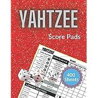 "Yahtzee: 400 Score Sheets for Scorekeeping Large Print 8.5""x11"" Games gift for Yahtzee lover"