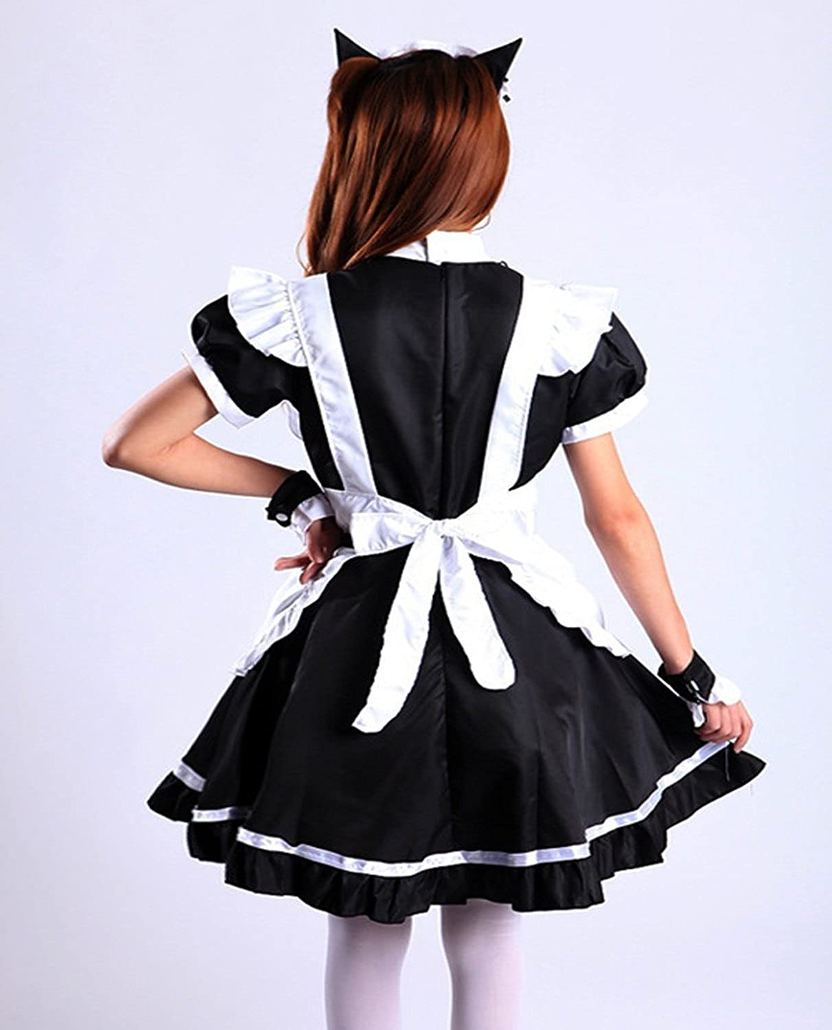 Amazon.com VSVO Womenu0027s Cat Ear French Maid Cosplay Dress Halloween Costume Clothing : cute maid costumes  - Germanpascual.Com
