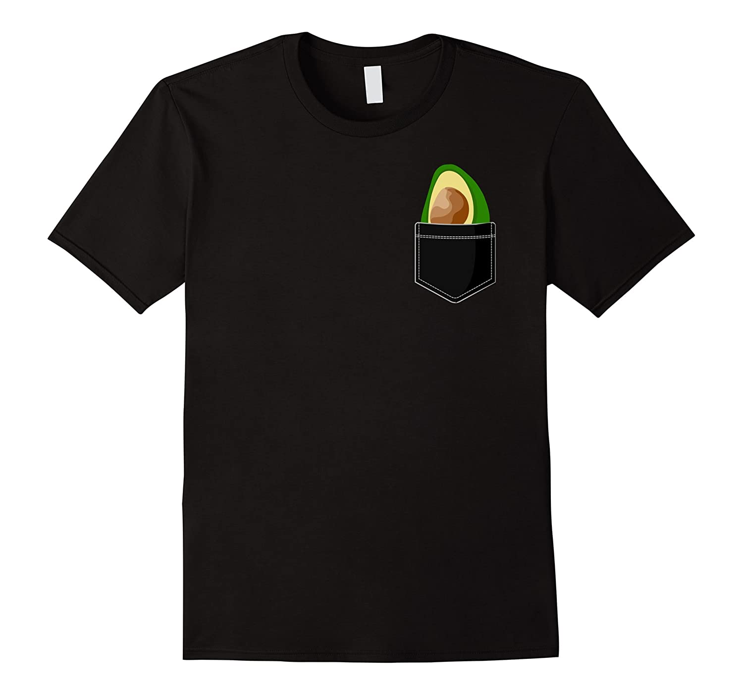 Pocket Avocado T-Shirt - Funny Avocado Shirt-TD
