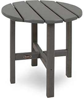 Trex Outdoor Furniture Cape Cod Round 18 Inch Side Table, Stepping Stone