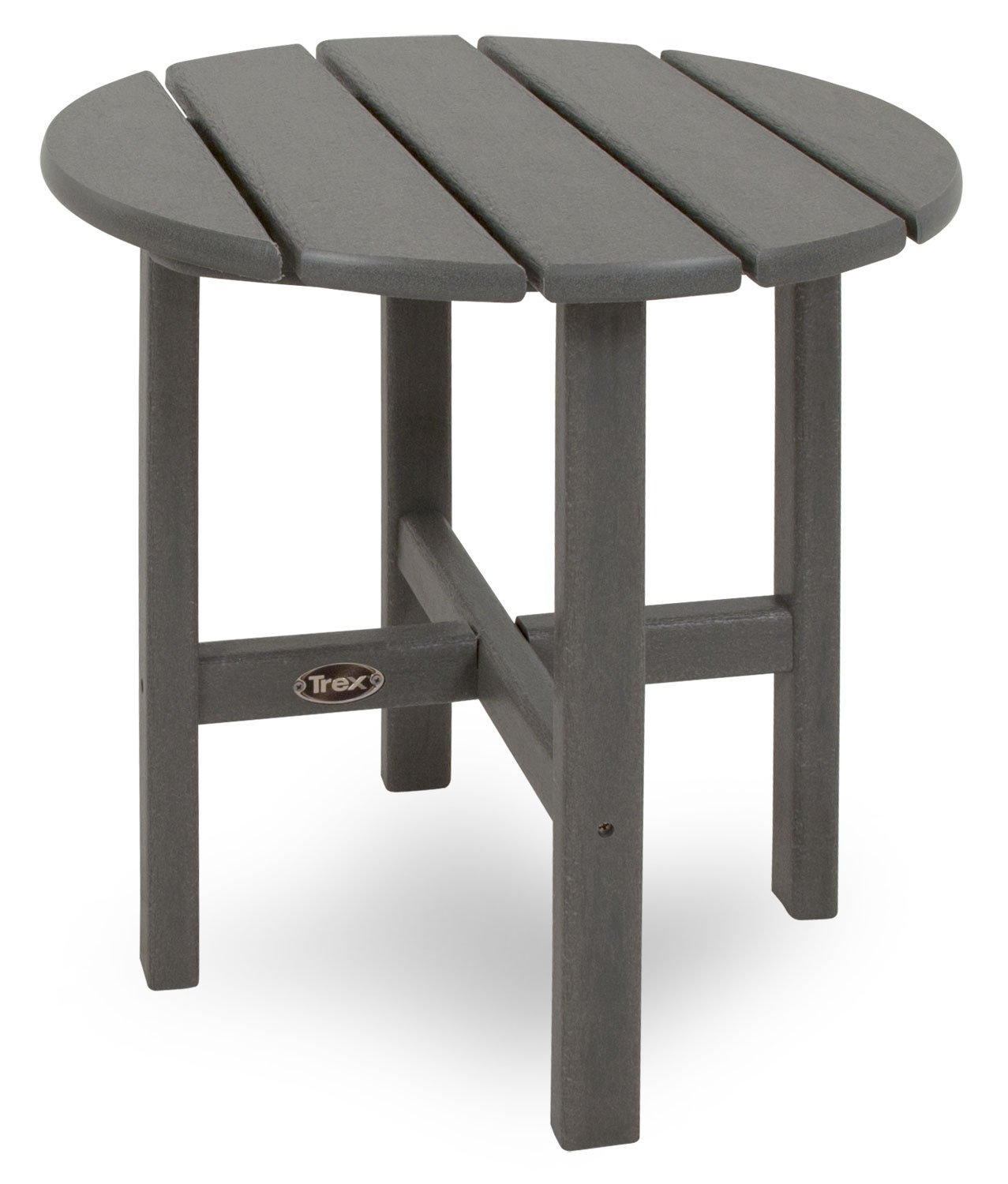 Trex Outdoor Furniture Cape Cod Round 18-Inch Side Table, Stepping Stone by Trex Outdoor Furniture by Polywood