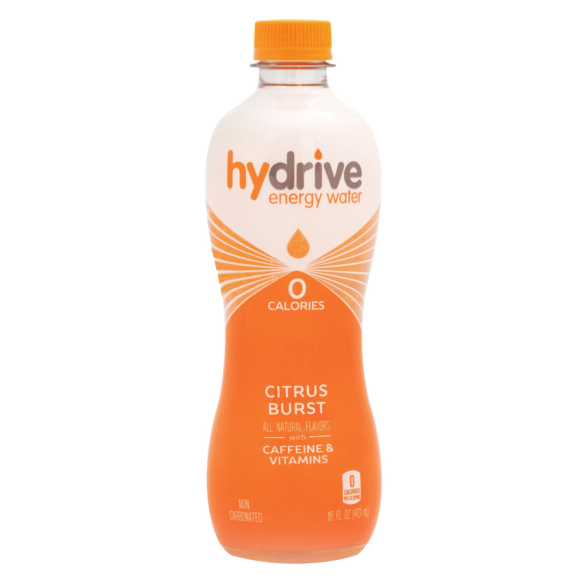Hydrive Energy Water | Citrus Burst | Sugar Free | Zero Calories | All Natural Flavors | Natural Energy | 16 oz (Pack of 12)