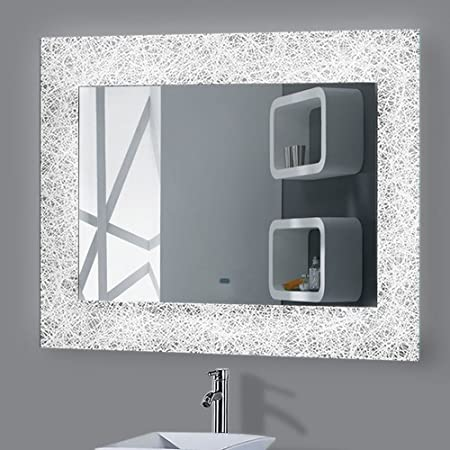 Mouse over image to zoom led illuminated bathroom mirror light touch mouse over image to zoom led illuminated bathroom mirror light touch aloadofball Image collections