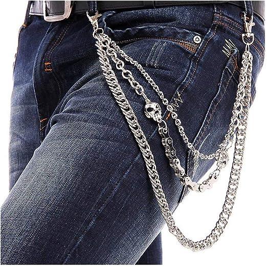 BOMPOW Biker Skull Wallet Chain