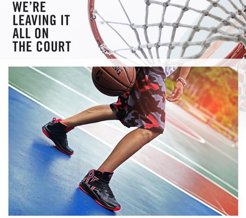 Huaishu Männer High-Top-Basketball-Schuhe Größe Sport Anti-Slip Anti-Slip Anti-Slip Wearable Leichte Atmungsaktivität Praxis Wandern Freizeit Mountaineer Klettern Schuhe 6a1294