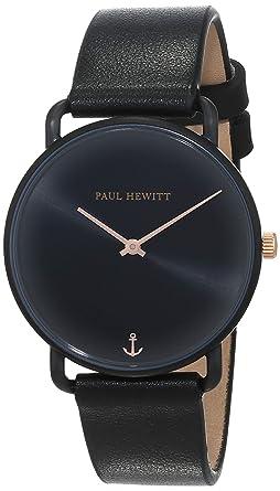 Paul Hewitt Reloj Analógico para Mujer de Cuarzo con Correa en Cuero PH-M-B-BS-32S: Amazon.es: Relojes