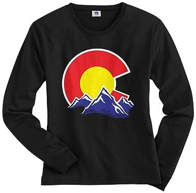 f381181141ee Amazon.com: Threadrock Women's Colorado Mountain Long Sleeve T-Shirt ...