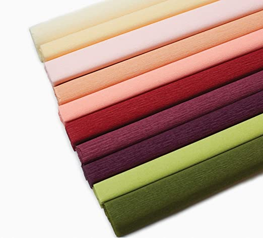 Lia Griffith Extra Fine Crepe Paper 10 Assorted Colours double side 130/% stretch