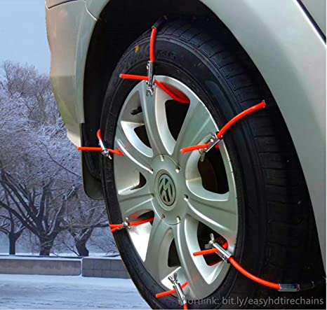 Jeep Mud Tires >> Amazon Com Easy Hd Emergency Traction Snow Mud Tire Chains For Suv