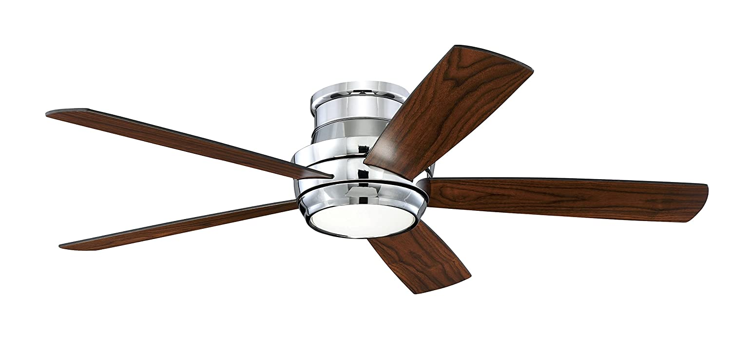 Craftmade Lighting Tmph52w5 Tempo Hugger 52 Ceiling Fan With Light Kit White Finish Matte Glass Fans Canada