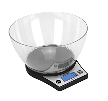 Duronic KS6000 Báscula Cocina Digital 5 Kg de Acero inoxidable Balanza Cocina Peso Pantalla LCD y