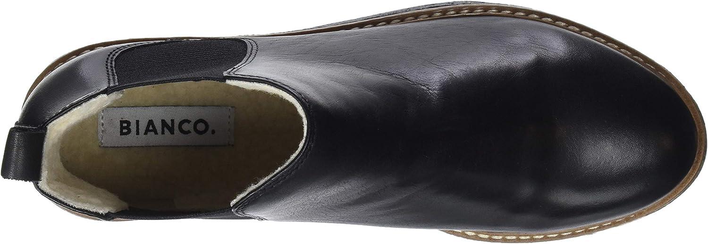 Bianco Bfagnes Leather Chelsea, Bottes Femme, Noir (Black