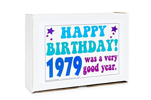 Woodstock Candy ~ 1979 40th Birthday Gift Box of Nostalgic Vintage Candy  Assortment from
