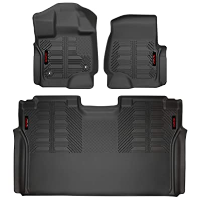 Gator 79611 Black Front and 2nd Seat Floor Liners Fits 2015-20 Ford F-150 SuperCrew: Automotive