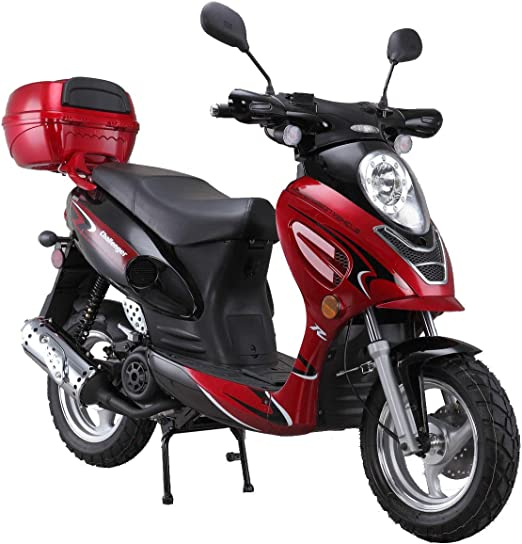 Black X-PRO 150cc Moped Scooter Adult Gas Scooter 4 stroke 150 Gas Moped Scooter Motorcycle Scooter