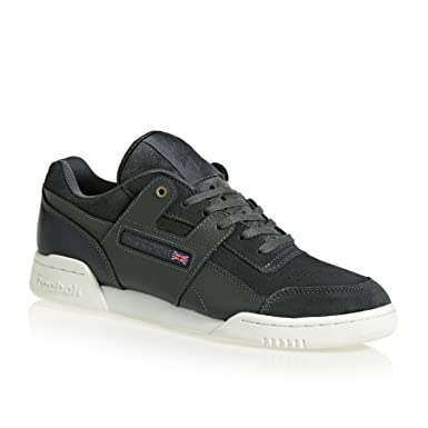 cb82ea0b75e36f Amazon.com  Reebok Workout Plus Montana Cans Collaboration Mens Sneakers  Grey  Clothing
