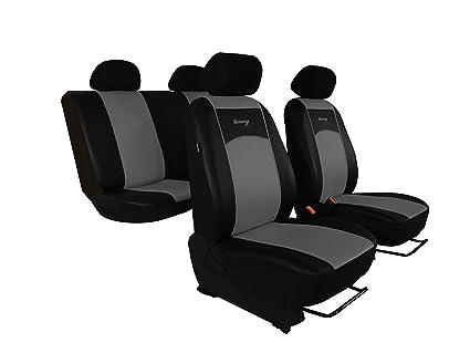 Universal Cuero Negro Eco-juego completo de fundas de asiento de Coche Apto Vauxhall Corsa