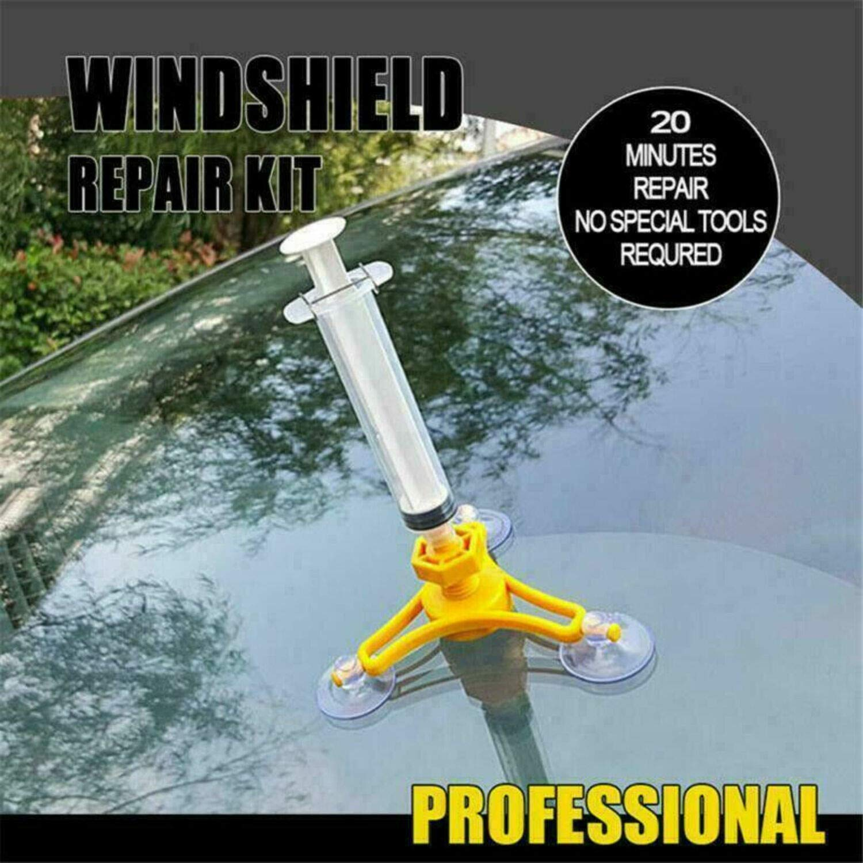Kfz-Windschutzscheibenreparaturset in Profiqualit/ät Glass Corrector Set Glassplitterrissreparatur f/ür Kfz