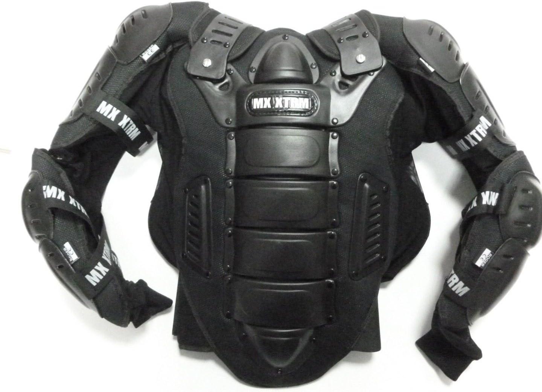 XTRM Moto Body Armour Adulte Moto Scooter Full Body Armour V/élo de coffre Veste de protection Motocross ATV Quad Sport /équipement de protection