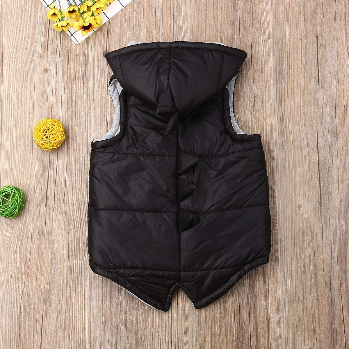 Toddler Baby Girl Boy Hoodie Vest Jacket 3D Dinosaur Sleeveless Waistcoat Warm Outwear
