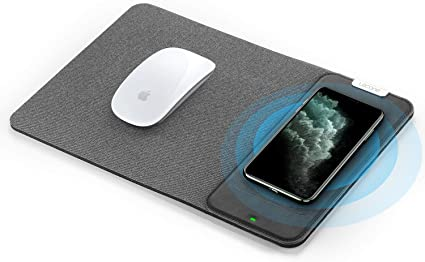 10W Fast Wireless Charging Pad QI Wireless 2 in 1 Foldable Mouse Pad for Samsung Galaxy S10//S9//S8 Plus Note 10//9//8 iPhone 11 Pro//Xs Max//XR//X//XS//8//8 Plus Lecone Wireless Charger Mouse Pad