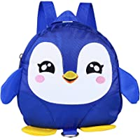 GLOGLOW Mochila con arnés de Seguridad, Linda Mochila para niños pequeños con pingüino de Dibujos Animados con Correa…