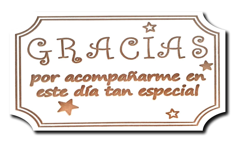 CARTEL GRACIAS INVITADOS BODA, COMUNIÓN, BAUTIZO, CUMPLEAÑOS ...