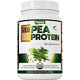 Solo Organic Pea Protein Powder, Low in Sodium, Canada Grown Peas, 100% Vegan, Non-GMO, Unflavored Plant Based Protein Powder