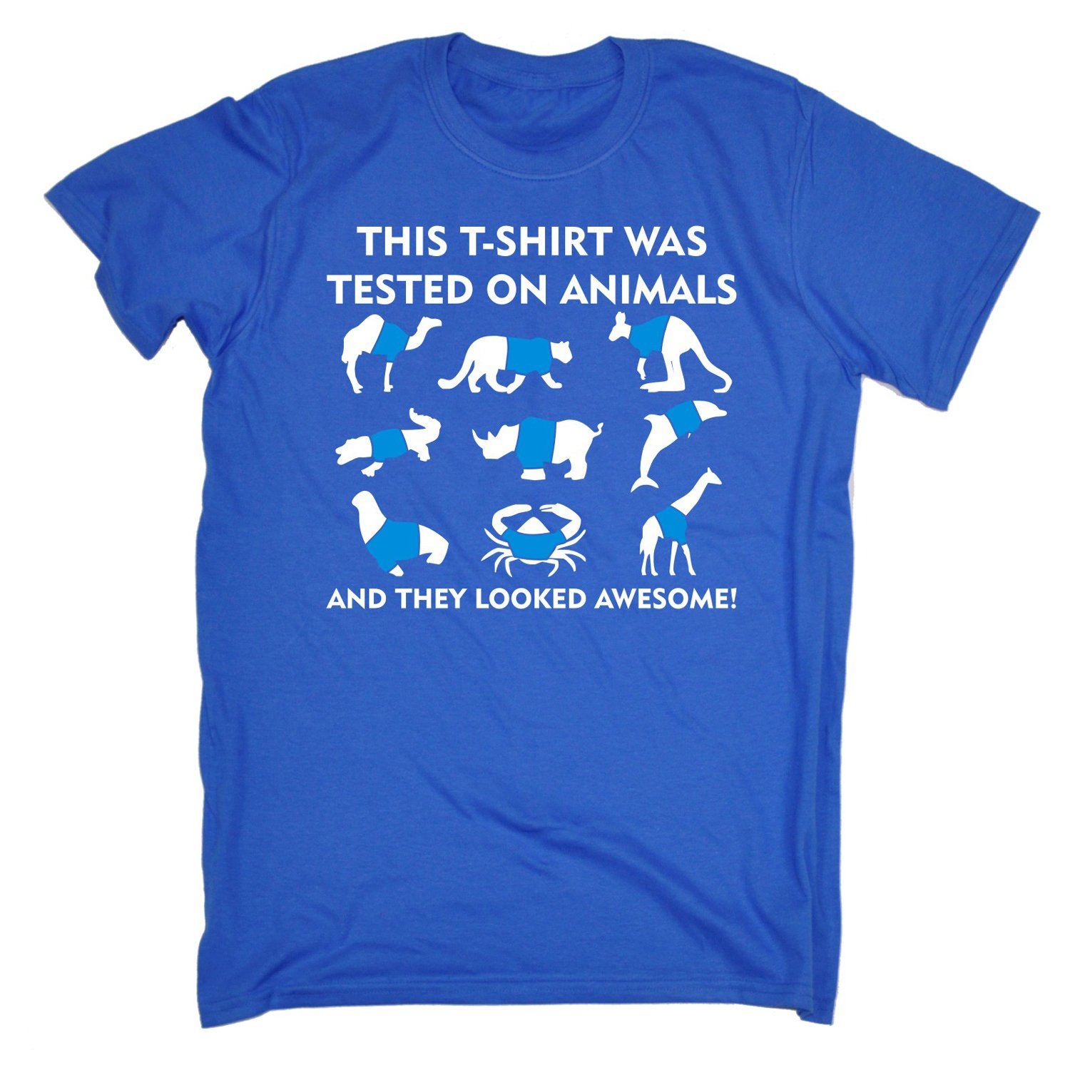 This T-Shirt was Tested On Animals - Funny Novelty T Shirt