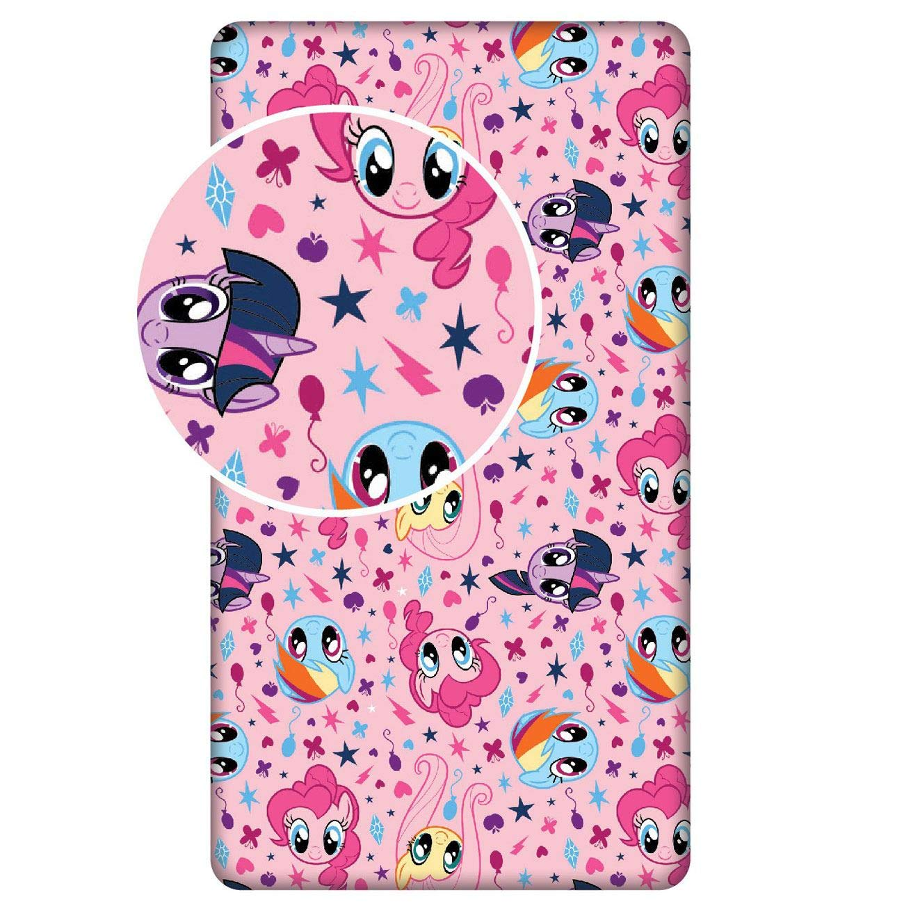Jerry Fabrics My Little Pony Pink Single Fitted Sheet by Jerry Fabrics