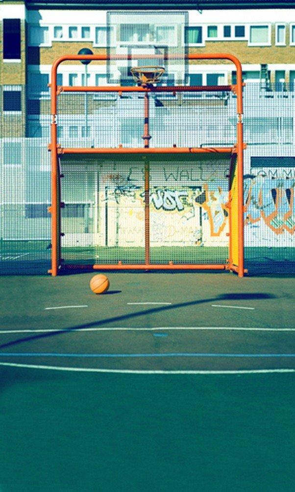 A MonamourバスケットボールCourt Back to Schoolパーティー壁壁画ビニール生地デコレーション写真の背景幕   B01J86K5AQ