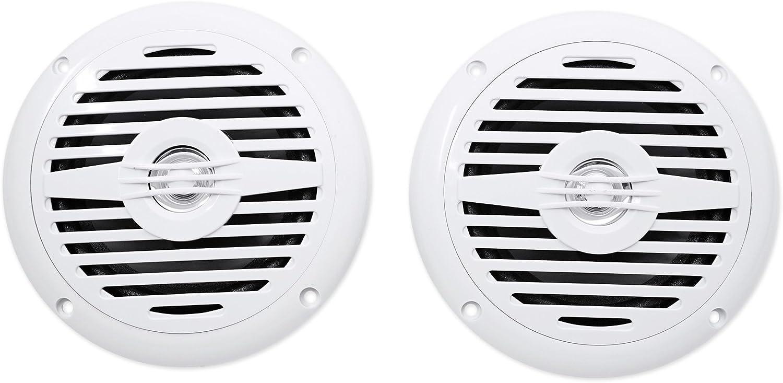 """Pair Rockville MS525B 5.25/"""" 400 Watt Waterproof Marine Boat Speakers 2-Way Black"""